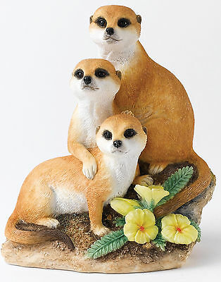 Country Artists Natural World, Snuggled Up Meerkats Figurine 16516 NEW