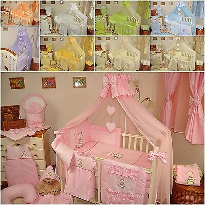STUNNING BABY COT/COT BED CANOPY DRAPE/ MOSQUITO NET BIG 320 cm+HOLDER/ROD CLAMP