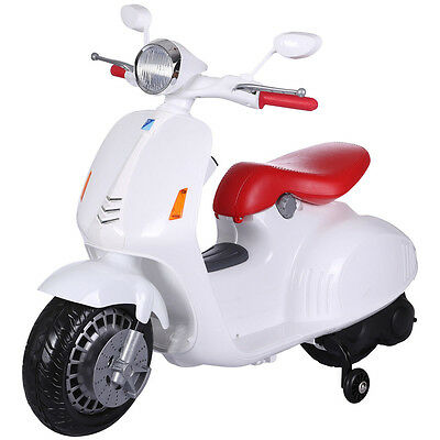 Predatour Classic Vespa style 12v Electric Kids Ride on Scooter with Stabilisers
