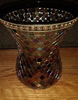 Partylite  mosaic Hurricane candle holder
