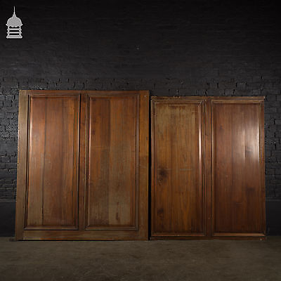 Two Pieces of 19th C Fruitwood Panelling with Raised and Fielded Panels