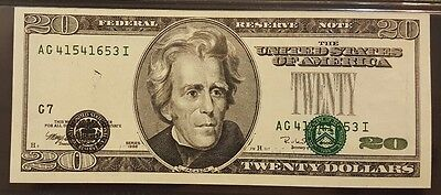 """(AWESOME """"Falling Seals"""" ERROR) PMG 64EPQ, $20 Note with Misaligned Printing"""