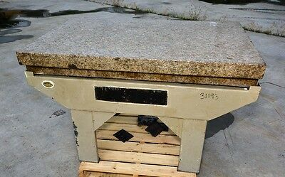 """Granite Surface Plate 30""""x48"""" With Stand (Inv.31193)"""