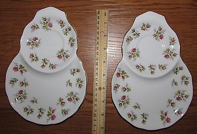 Vintage 2 Winsome Royal Albert Bone China Oval Snack Plates
