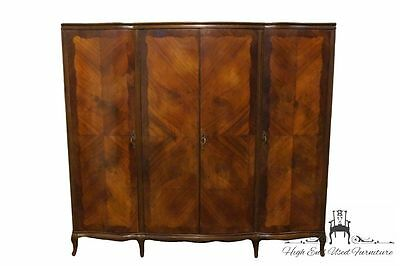 1940's Antique French Regency 85″ Clothing Armoire / Wardrobe