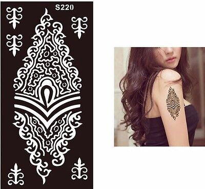 Henna Black Diamond Lace Flower Black Hands Art Stencils Templates Body Painting