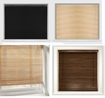 Easy Fit Multiple Size Wood Grain Effect Venetian Blind Drop 150cm Window Blinds