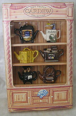 Super Collection Of Six Cardew Mini Teapots In Box 1996