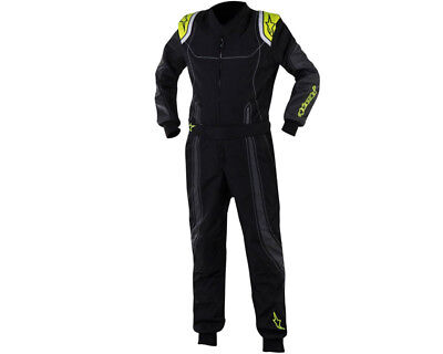 Alpinestars Kmx 9 Junior Kart Suit Black / Yellow Fluo 150 UK KART STORE