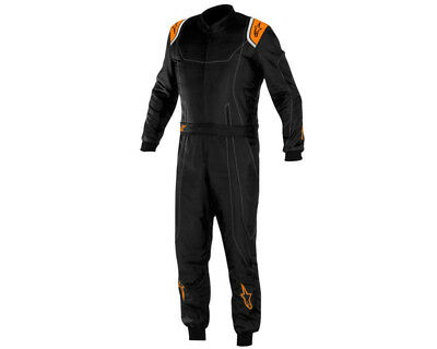 Alpinestars Kmx 9 Kart Suit Black / Orange Fluo 40 UK KART STORE