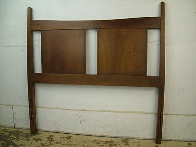 1963 Mid Century Modern Walnut Twin Bed Headboard MCM Retro Walnut