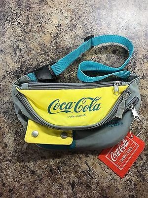 Vintage Coca Cola Fanny Pack Bum Bag Purse Bag YELLO GREEN AND GRAY