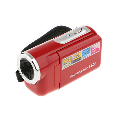 Camera Recorder Portable Digital Video Camcorder HD DV 1.8'' 8X Zoom Red