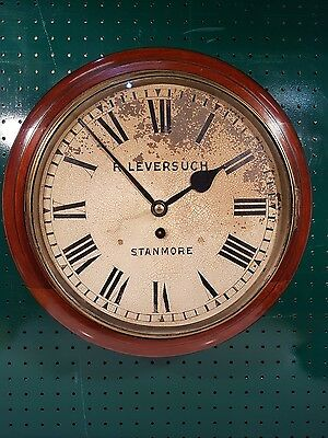 Antique Single Fusee Wall Clock