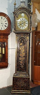 Fine Quality Antique Red Lacquered Longcase Grandfather Clock Sam Hollyer London