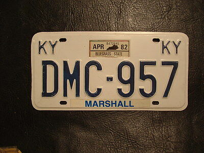 1982 Kentucky License Plate Marshall County