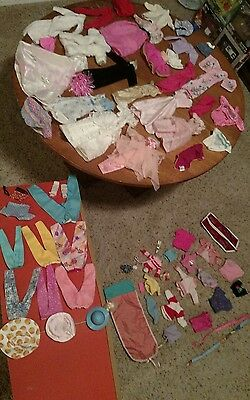 Vintage Barbie Doll Clothing &  Outfit Pieces Parts  Lot Mattel 1970