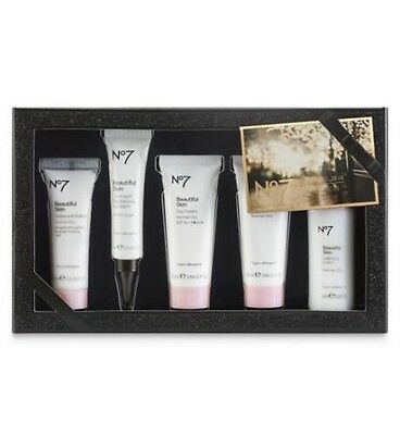 BOOTS No7 BEAUTIFUL SKIN COLLECTION GIFT SET IN A PRESENTATION BOX