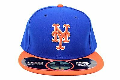 dfdc3493b77 New York Mets Royal Blue Orange NE Tech On-Field MLB New Era 59Fifty Fitted