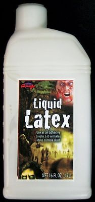 1 Pint Of Liquid Latex Fake Skin Makeup Kit Theatrical Appliance Make Up 16 Oz