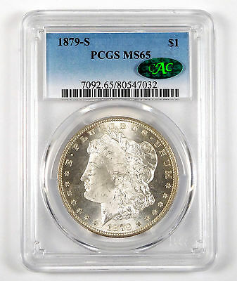 1879-S Morgan Silver Dollar - PCGS & CAC MS 65