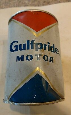 Vintage GULFPRIDE tin quart grease oil lube can. Texaco product. Not sign