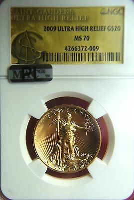 2009 $20 Ultra High Relief Double Gold Eagle - NGC MS70 MAC App. PL (prooflike)