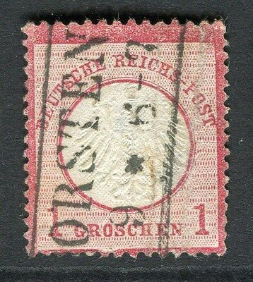 GERMANY  1872 early classic Shield issue fine used 1g. value , fair Postmark