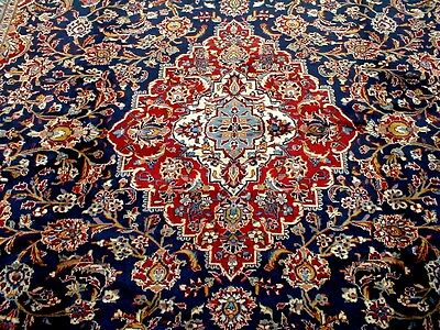 10X13 1960s EXQUISITE MASTERPIECE FINE HAND KNOTTED ANTQ KORK KASHAN PERSIAN RUG