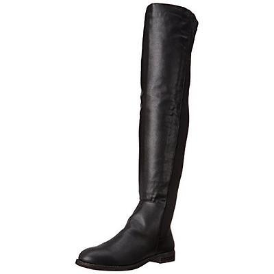 Penny Loves Kenny 8295 Womens Dalton Black Over-The-Knee Boots 7.5 Medium (B,M)