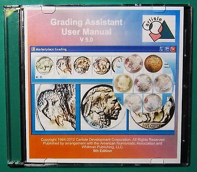 GRADING ASSISTANT Version 5.0 Coin Grading Software CD (1) Windows Version