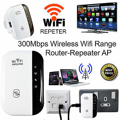 Wireless 300Mbps N 802.11 AP Wifi Range Signal Extender Booster Repeater EU Plug