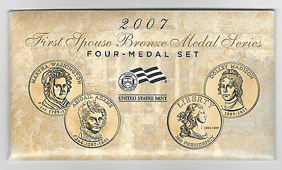 2007 First Spouse Bronze Medal Series - FOUR - MEDAL SET