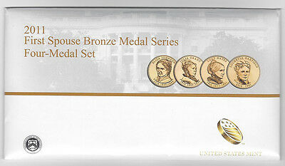 2011 First Spouse Bronze Medal Series  Four-Medal Set