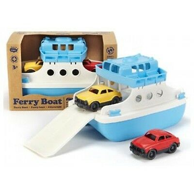 NEW Green Toys Ferry Boat with 2 Mini Cars - Kids Bath Toy Eco-Friendly Bathtub