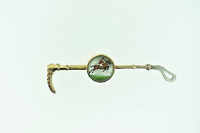 True Vintage Gold and Silver Plated Horse and Jockey Lapel Pin or Brooch