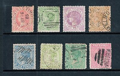 Victoria 1884-1901 - Stamp Duty x 8, ½d up to 2/-, Fine Used