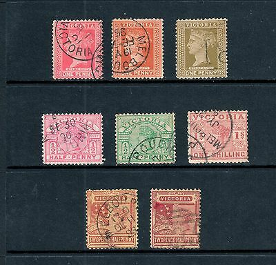 Victoria 1886-1897 - Stamp Duty x8, ½d up to 1/-, Fine Used