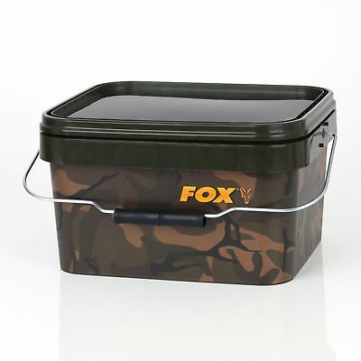 Fox Camo Square Bucket 5L / 10L / 17L Angel Futtereimer Boilies Pellets