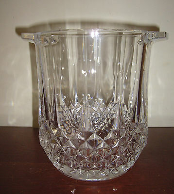 Longchamp Lead Crystal Champagne Ice Bucket Cristal D Arques Made In France