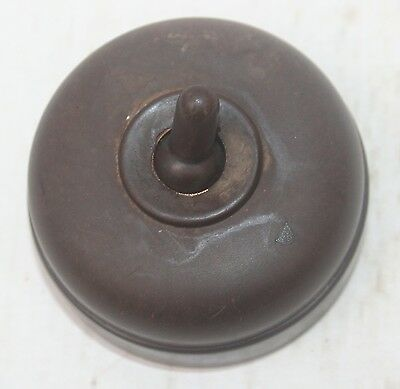 Vintage Brown Bakelite Light Switch  Stamped Foreign 3001/1