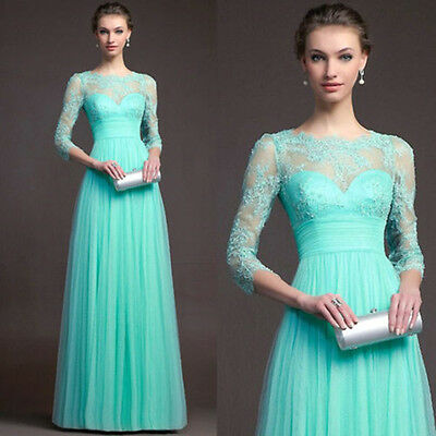 Formal Long Women Lace Dress Prom Evening Party Cocktail Bridesmaid Wedding.