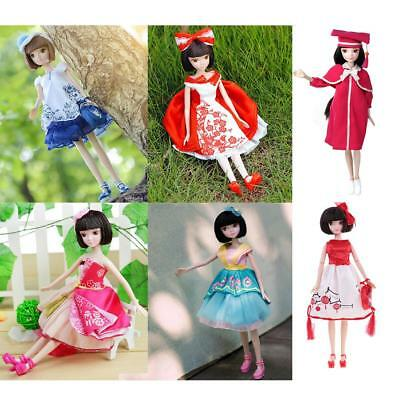 28cm Flexible Joints Vinyl Body Doll Fashion Costume BJD Kurhn with Shoes Bag