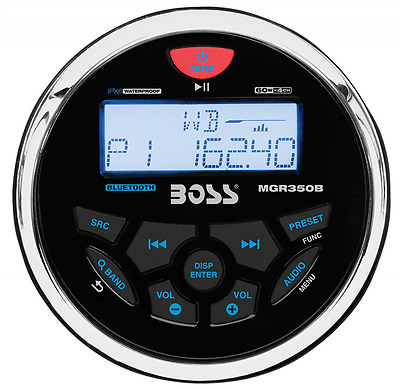 BOSS AUDIO MGR350B Marine Gauge MECH-LESS  Receiver, with Audio Streaming