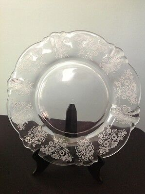 "Heisey Elegant Glass 6"" Dessert/Bread And Butter Plate(s) Rosalie Etched"