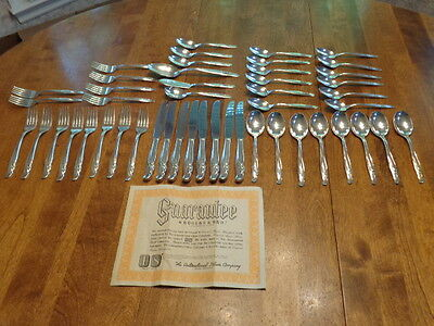 Rogers & Bros Is Exquisite Silver Plate Flatware 48 Pieces