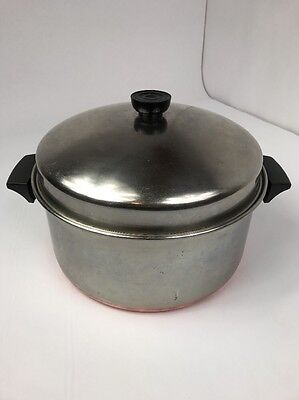 Revere Ware 6 Quart Sauce Pan Stock Pot and Matching Domed Lid
