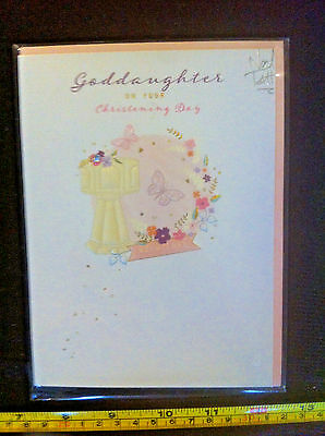 goddaughters On Your Christening Day Noel Tatt Card & Envelope New