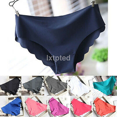 Women Invisible Seamless Soft Thong Lingerie Briefs Hipster Underwear Panties~