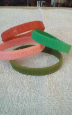 Rubber ID bands- cancer awareness